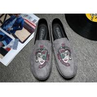 Buy cheap Embroidered Loafers Leisure Comfort Driving Custom Logo Gray Black Crushed product