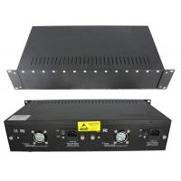 Buy cheap 14 Slot Rackmount Chassis Fiber Optic Converter With 4 Fans 2 Power Supply product