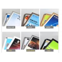 Buy cheap Wall Mounted Black Poster Picture Frames, Waterproof Silver Clip Frames For Exhibition product