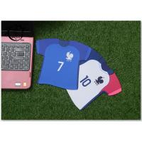 Buy cheap France Jersey Shape Digital Printed Marketing Promotional Gifts Computer Custom Mouse Pads Soccer Team product