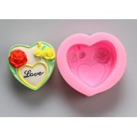 China Oven Safe Personalized Silicone Soap Molds , Heart Shaped Silicone Moulds wholesale