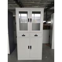 Buy cheap Light Gray RAL7035 Steel Office file Cupboard 1850x900x400mm two drawer swing open door product
