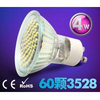 Buy cheap 4W Ceramic indoor lighting bulb down lamp led spot light GU10 220V E27 60pcs SMD3528 product