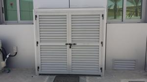 Buy cheap Exterior Aluminium Louver Doors Tempered Glass With Ventilation product