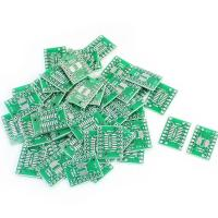 Buy cheap 50-X-SOP16-SSOP16-TSSOP16-to-DIP16-0-65-1-27mm-IC-PCB Adapter Socket Boards product