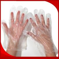 Buy cheap Waterproof CPE Disposable Plastic Gloves , Embossed Disposable Kitchen Gloves product