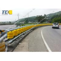 Buy cheap EVA PU Polyurethane Rolling Crash Barrier , Expressway Steel Beam Guardrail from wholesalers