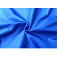 Blue Polyester Woven Fabric 190T Yarn Count Taffeta Comfortable Hand Feel
