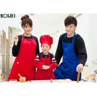 Buy cheap Professional Red Color Custom Kitchen Aprons Cotton Durable Logo Printed product