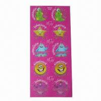 Buy cheap Unique Scratch and Sniff Stickers, Special Finished Scent Absorbed in Paper, One from wholesalers