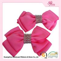 Buy cheap Hand Made little Girls Hair Bows Pretty Pink Grosgrain Ribbon material product