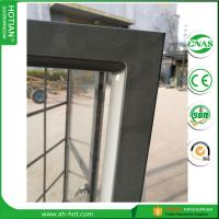 Quality China alibababa hot sale steel casement window in glazing black steel frame with double 5mm tempered glass for sale