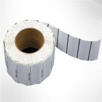 Buy cheap White Woven Clothing Sew EAS Hard Tag ,  58KHz AM Label Roll product
