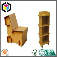 Buy cheap Strong Corrugated Furniture Desk; Shoe Cabinet Made of Cardboard Kraft Paper product