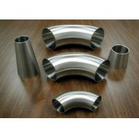 Buy cheap Food Industrial Stainless Steel Sanitary Fittings Weld 90 Degree Elbows product