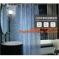 Buy cheap Mould Proof Waterproof white and black trellis design pvc custom bath curtain printed shower curtain, High quality Polye product