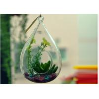 Buy cheap Hanging Teardrop Glass Terrarium , Hanging Glass Teardrop Candle Holders product