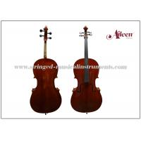 Buy cheap Ebony Fitted All Solidwood Flamed Moderate Musical Instrument Cello with flame Cello product
