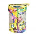Buy cheap Round Spongebob Theme Toy Bricks Blocks Zipper Storage Bags for Children Building Blocks with handle product