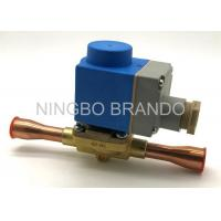 018F6701 Solenoid With Brass Body Copper Pipe Refrigeration Solenoid Valve for Fluorinated Gas Lines