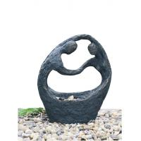 """China Happy Couple Small Garden Fountains , 26"""" Lighted Water Fountain wholesale"""