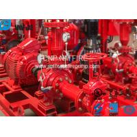 Buy cheap UL Listed Electric Motor Driven Fire Pump End Suction Pump Sets 47.7kw Max Shaft Power product