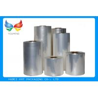 Buy cheap 45mic Transparent Blown PVC Sleeve Label Film Rolls For Cans Label product
