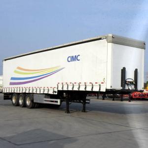 50T Payload Curtain Tarp 12m Dry Van Semi Trailer
