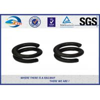 China 65Mn Spring Steel Double Coil Washer / Bouble Layer Waher Black Surface Treatment on sale