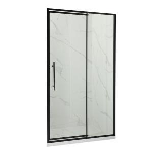Buy cheap Extruded Aluminum Bathroom Doors , Vertical Waterproof Sliding Door Tinted Glass product