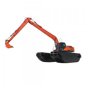 Buy cheap 20 Ton 30 Ton Amphibious Excavator Swamp Excavator With Pontoon Dredging Pump product