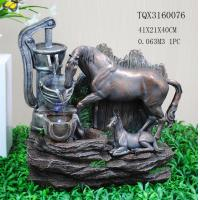 Buy cheap Horse Animal Large Resin Water Fountain With Flashing Light 40 X 30 X 41 Cm product