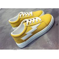 Buy cheap Fashionable Females Canvas Sneakers Shoes For Student Yellow White Black Color product