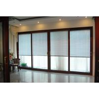 Buy cheap CR120 Wooden Interior Patio Sliding Doors, 5mm+27a+5mm Hollow Glass Sliding Door With Louvers Factory product