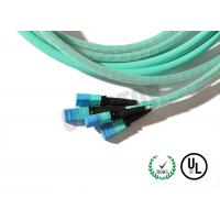 Buy cheap MM OM 2 MPO Fiber Optic Patch Cord 8 / 12 / 24 - Core For Coherent Transmission product