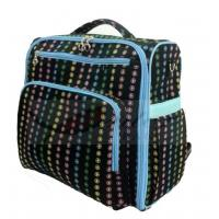 China Professional Black Backpack Diaper Bag / Personalized Diaper Bags For Boys on sale