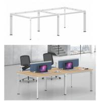 Buy cheap 4 seats office workstation face to face with screen and wire management 30x80 mm steel tube product