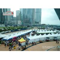 Buy cheap Large white aluminum and PVC 5X5m Gazebo Canopy Tent for Hongkong Dine & Wine Festival Event product
