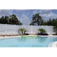 Buy cheap White vinyl semi privacy fence, Vinyl Pool Fencing, Vinyl Garden Fence Panels product