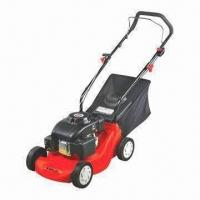 Buy cheap 118cc Gasoline Lawn Mower with 400mm Cutting Width, 5 Positions and 2.8kW Maximum Power product