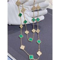 Buy cheap 18K Yellow Gold Van Cleef And Arpels Vintage Alhambra Necklace With Diamond And Malachite product