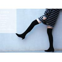 Buy cheap Top Grain Cowhide Upper Knee Length Boots / Kitten Heel Knee High Boots Fashion Design product