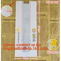 Buy cheap Professional Food Safe Opp Clear Window Paper Bags Offset Printing, OEM Block Bottom Bags Tin Tie White Paper bags with product