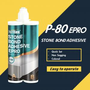 Buy cheap P-80 Epoxy Stone Bonding Adhesives Quick Set Colored Odorless No Sagging product