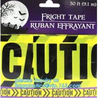 Buy cheap Halloween Birthday Party theme warning caution PE tapes for event decoration,Halloween Caution Tapes,Halloween Warning T product