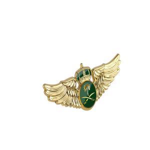 Buy cheap 3D Embossed Metal Pilot Wing Badge Zinc Alloy Silver Plated Pilot Lapel Pin product