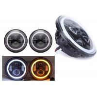 "Quality 70W 7"" Angel Eye Jeep LED Headlights High / Low H4 Or H13 Jeep Jk Halo for sale"