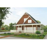 Buy cheap Wooden Door Custom Modern Prefab House 2 Bedrooms Living To Easy Install product