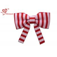Two Colors Stripe long festive ribbon tying christmas bows , gift wrapping ribbon bows fashion design