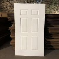 Quality Environmental Friendly White Faced Hdf Door Skin For Exterior House Decoration for sale